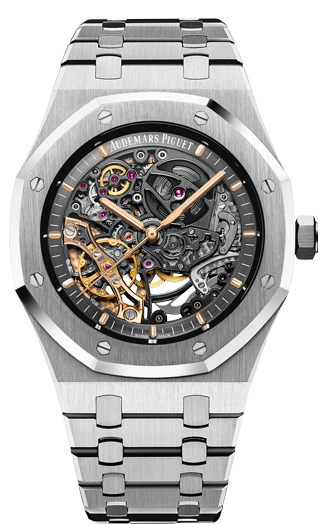 Audemars Piguet Royal Oak Double Balance Wheel Openworked 41 мм 15407ST.OO.1220ST.01