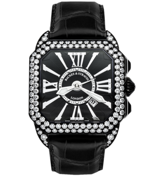 Backes & Strauss Steel Collection Berkeley Diamond Knight 43 BY43MAD2RDK.STPVD.BWR